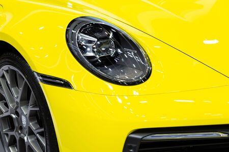 Thailand - April, 2019 : Porsche 911 Carrera S on display at Thailand International Motor Show