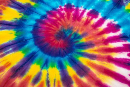 fondo del teñido anudado en espiral del arco iris Foto de archivo
