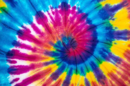 Tie Dye espiral color del arco iris, textura abstracta y fondo, estilo reggae.