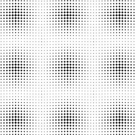 seamless halftone pattern with circles, halftone dotted backdrop. Radiating from the center starburst, Comic background, Pop art style.