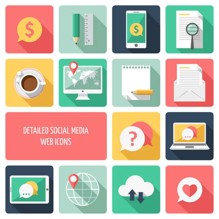 Social media web icons Vector