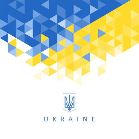 The national symbol of the Ukraine - abstract background Vector