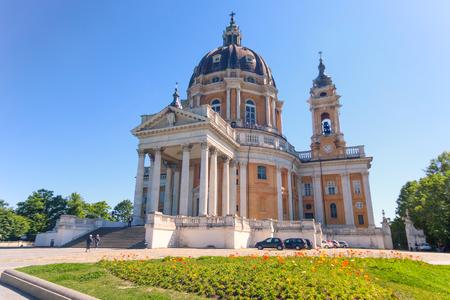 Basilica di Superga, a baroque church on Turin (Torino) hills, Italy, Europe