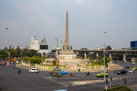Victory Monument in Bangkok city, Thailand