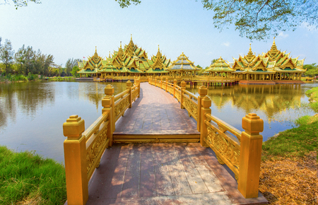 Pavilion of the enlightened in Ancient City Park, Muang Boran, Samut Prakan province, Thailand
