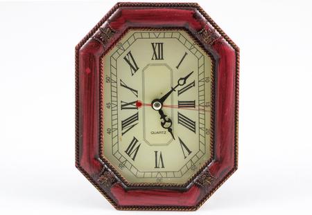 Wood clock octagonal shape