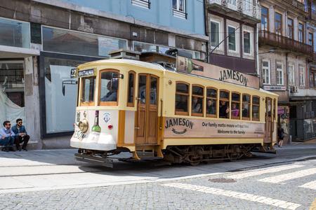 Historical tram in Porto, Portugal, Europe