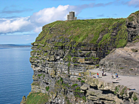 OBriens Tower in Cliffs of Moher, County Clare, Ireland Stock Photo
