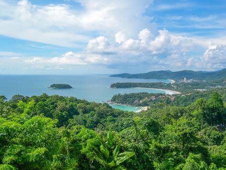 Karon view point:  Kata Noi Beach, Kata Beach and Karon Beach, Phuket, Thailand, Asia