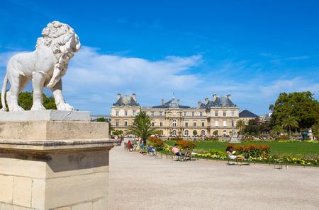 PARIS, FRANCE, SEPTEMBER 9, 2018 - Palace of Luxembourg Gardens, Paris, France