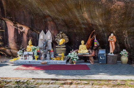 NONG KHAI, THAILAND, JANUARY 27, 2019 - Wat A-Hong Silawas temple, on Mekong river, Tambon Khaisri, Amphoe Bungkan, Nong Khai, Thailand