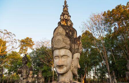 NONG KHAI, THAILAND, JANUARY 27, 2019 - Sala Keo Kou Temple, Nong Khai, Thailand, Asia