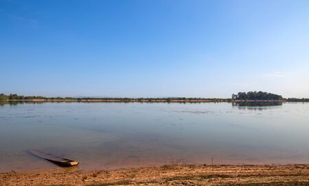 Big lake in the countryside, north-est of Thailand, Isan, Asia