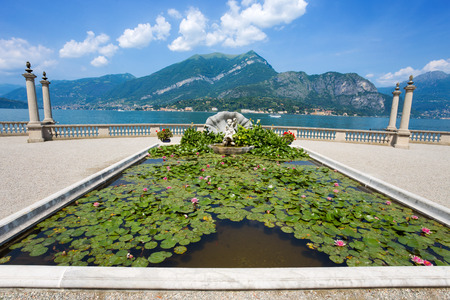 BELLAGIO, ITALY, JUNE 19, 2019 - View of Villa Melzi and the Gardens in the village of Bellagio on Como lake, Italy Editorial