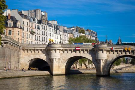 PARIS, FRANCE, SEPTEMBER 8, 2018 - View of Pont Neuf, Ile de la Cite, Paris, France