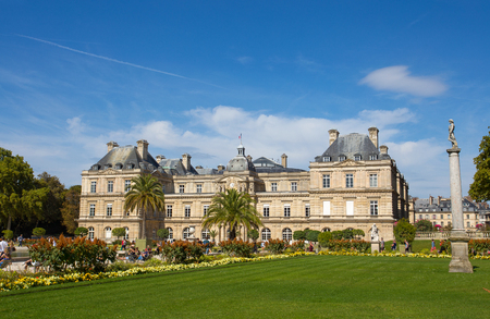 PARIS, FRANCE, SEPTEMBER 9, 2018 - Palace of Luxembourg Gardens, Paris, France Editorial