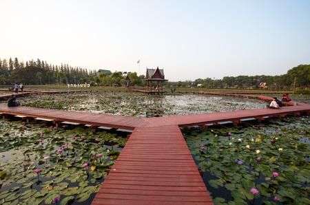 SAKON NAKHON, THAILAND, FEBRUARY 13, 2017 -  DuBois Memorial Park , Sakon Nakhon Province, Thailand, Asia