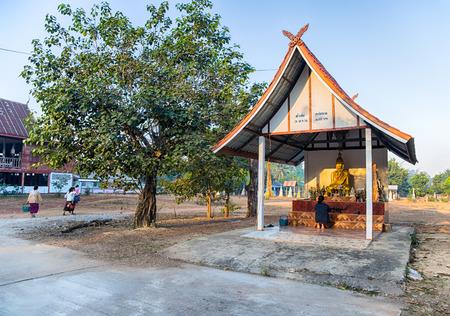 SAKON NAKHON, THAILAND, JANUARY, 20, 2019 - Temple in the Akat Amnuai district, Sakon Nakhon province, Isan, Thailand Standard-Bild - 134189504