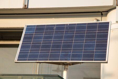Big solar panel close-up