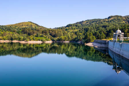 Giacopiane lake is an artificial reservoir located in the Sturla valley in the municipality of Borzonasca, inland of Chiavari, Genoa province, Italy