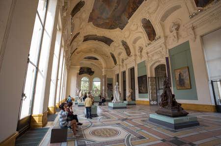 PARIS, FRANCE, SEPTEMBER 5, 2018 - Interior view of the Petit Palais museum, built for the 1900 World Exhibition in Paris, France. Redakční