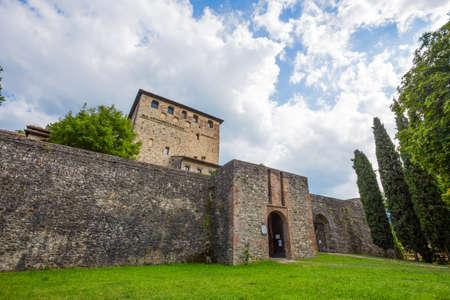 BOBBIO, ITALY, AUGUST 20, 2020 - Malaspina Castle in Bobbio, Piacenza province, Emilia Romagna, Italy.