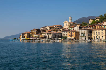 MONTE ISOLA, ITALY, SEPTEMBER 9, 2020 - View of Monte Isola, Iseo Lake, Brescia province, Lombardy, Italy. Editorial