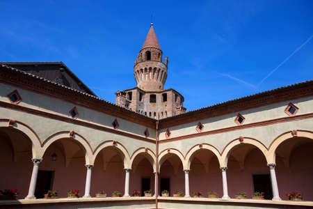 RIVALTA TREBBIA, ITALY, AUGUST 25, 2020 - View of Rivalta castle in Rivalta Trebbia town, Piacenza province, Emilia Romagna, Italy Editorial