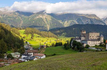 Naudersberg Castle in Nauders, Tyrol, Austria