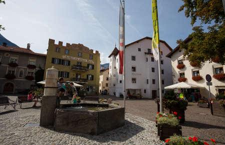 GLORENZA, ITALY, SEPTEMBER 11, 2020 - View of the town of Glorenza, province of Bolzano, South Tyrol, Italy