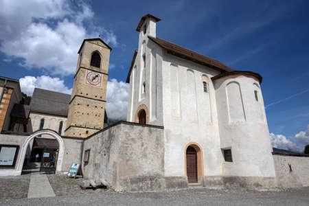 MUSTAIR, SWITZERLAND, SEPTEMBER 11, 2020 - The Convent of St. John in Mustair, UNESCO World Cultural Heritage, Switzerland. Editorial