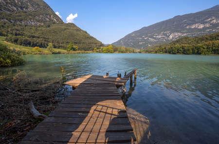 View of Toblino Lake, Trento province, Trentino Alto Adige, Italy