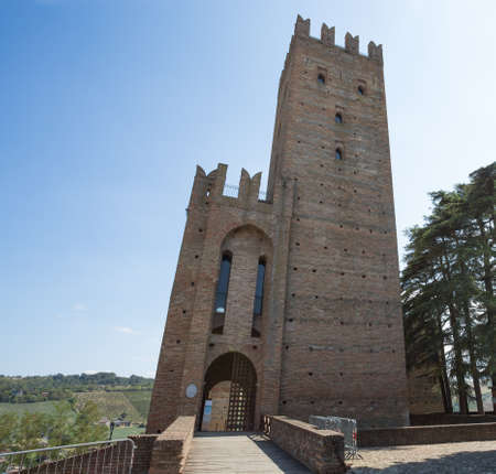 The castle of the medieval town of Castell'Arquato, Piacenza province, Emilia Romagna, Italy Standard-Bild