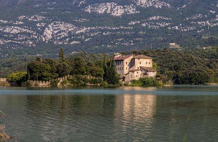 Toblino Castle, in the municipality of Madruzzo, Trento Province, Italy.