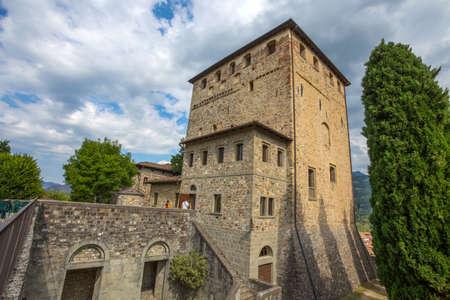 BOBBIO, ITALY, AUGUST 20, 2020 - Malaspina Castle in Bobbio, Piacenza province, Emilia Romagna, Italy