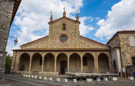 BOBBIO, ITALY, AUGUST 20, 2020 - St. Colombano Abbey in Bobbio, Piacenza province, Emilia-Romagna. Italy
