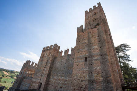 The castle of the medieval town of Castell'Arquato, Piacenza province, Emilia Romagna, Italy Editorial