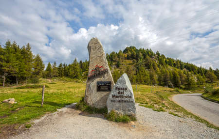 MONNO, ITALY, SEPTEMBER 10, 2020 - View of Mortirolo Pass. It is an italian pass in Lombardy, which connects Valtellina (Sondrio province) with Val Camonica (Brescia province), Italy Editorial