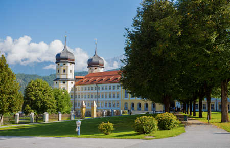 STAMS, AUSTRIA, SEPTEMBER 9, 2020 - Cistercian Stams Abbey (Stift Stams) in Stams, Imst district, Tyrol, Austria.