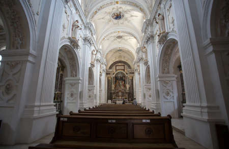 The inner of the Benedictine Abbey of Monte Maria (Abtei Marienberg), Burgusio, Malles, South Tyrol, Italy, Editorial