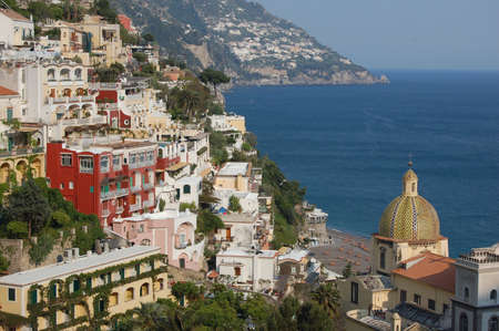 Positano on Amalfi coast, Naples, Italy