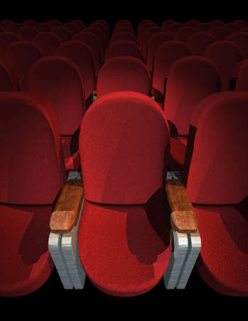 privilege: Red Seat at Movie Show (3D image)