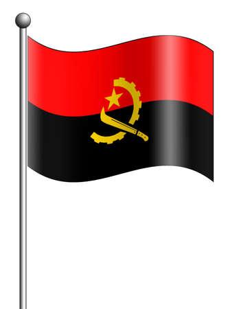 angola: Angola Flag Stock Photo