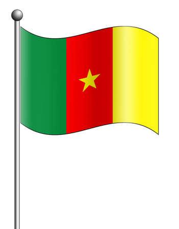 cameroon: Cameroon Flag Stock Photo