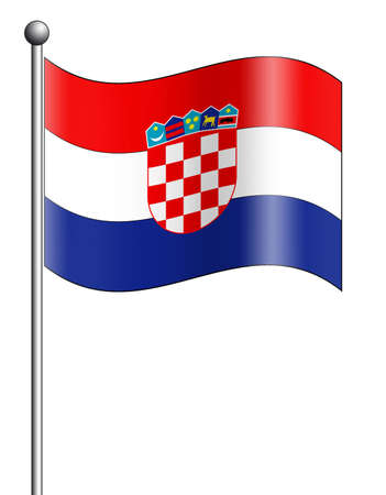 croatia: Croatia Flag Stock Photo