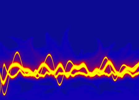 Energy waves - Fire yellow Stock Photo - 423696