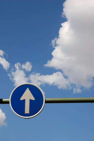 Way to heaven, road sign