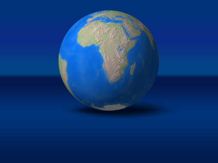 afrika: World Globe on blue graphic backgroundAfrica view