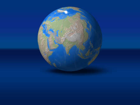 afrika: World Globe on blue graphic backgroundAsia, India, indonesia, view Stock Photo
