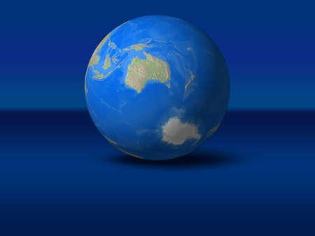 afrika: World Globe on blue graphic backgroundAustralia view Stock Photo